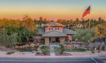 Arial of the Stonegate Community at Sunset | Stonegate Community Association of Scottsdale, Arizona