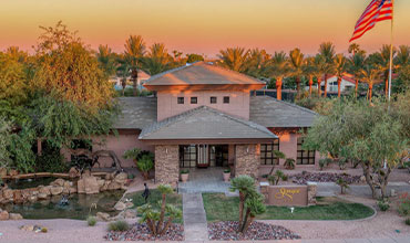 Arial of the Stonegate Entry Building | Stonegate Community Association of Scottsdale, Arizona